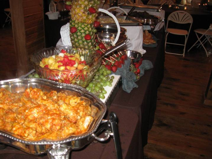 Buffalo Wings and Fruit Fondue