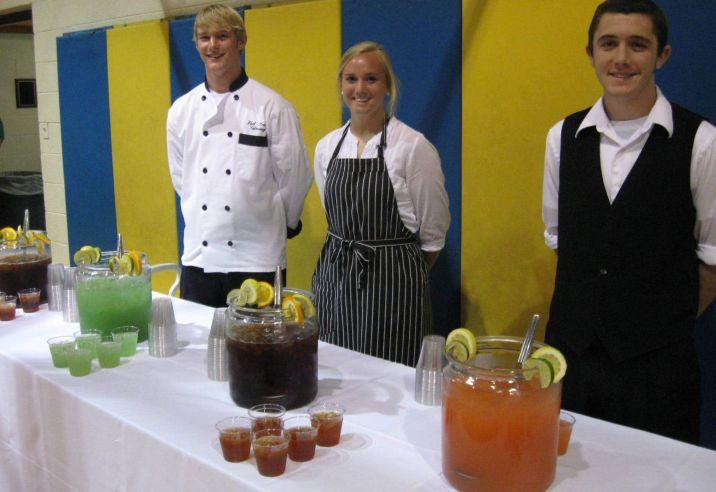 Limeade, Raspberry Lemonade, Sweet Tea