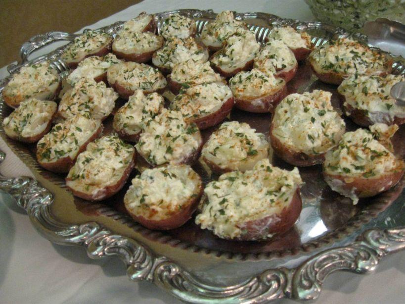 Red Potato Salad Cups