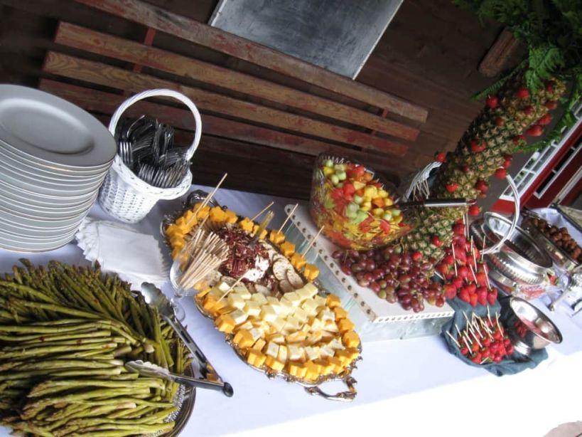 Asparagus/Gourmet Cheeses/Fresh Fruit