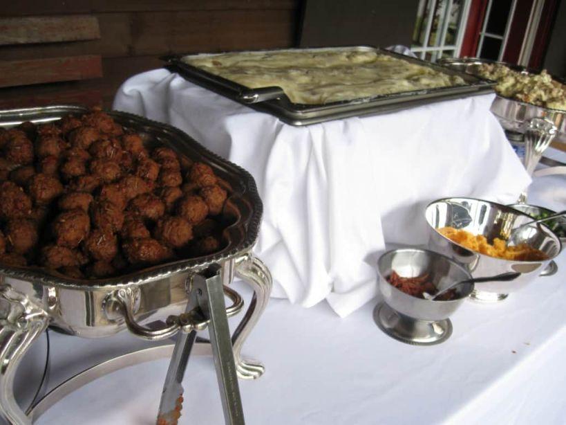 Herb Meatballs/Whipped Potato Bar