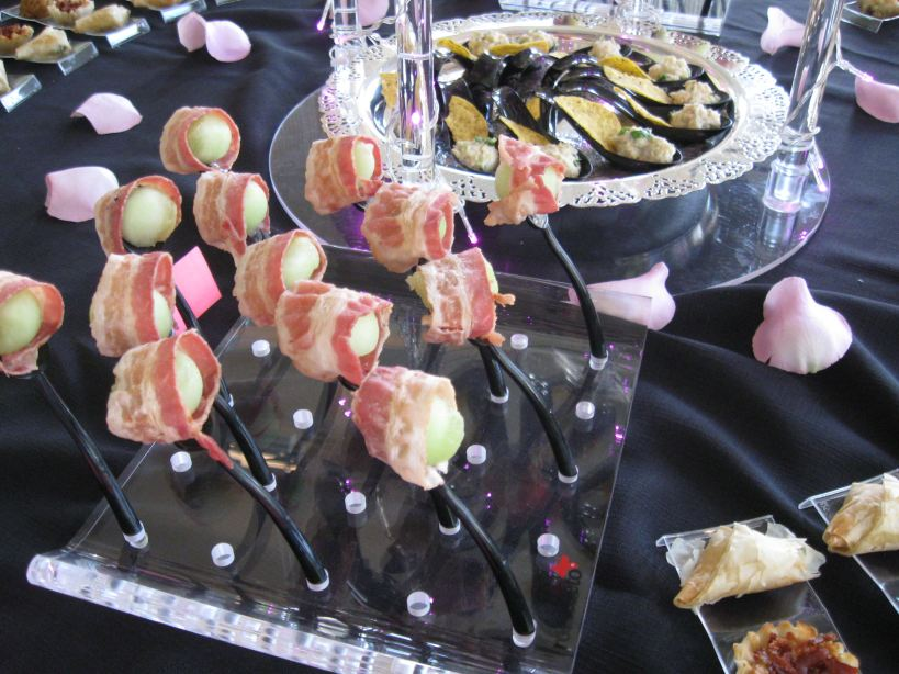 Bacon Wrapped Honeydew Forks