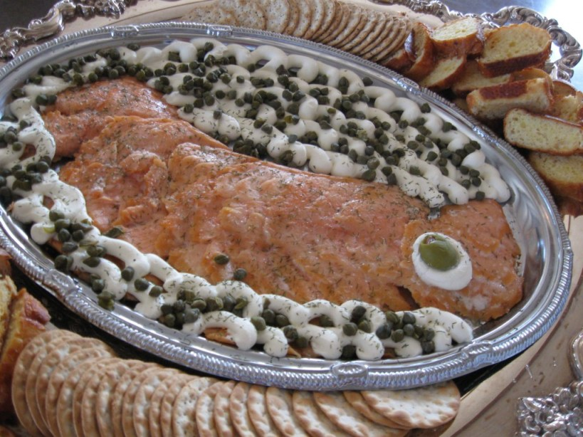 Smoked Salmon with mousse and capers