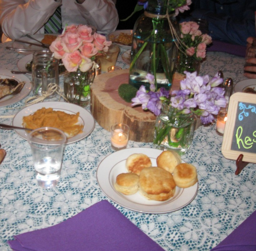 Family Style Meal with Buttermilk Biscuits