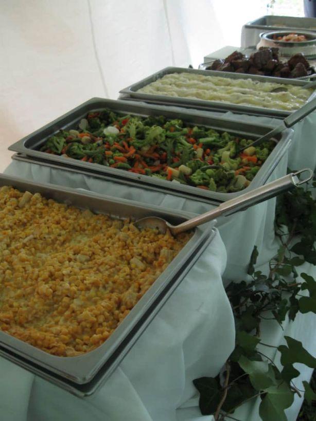 Corn Casserole, Vegetable Stir-Fry, Whipped Potatoes