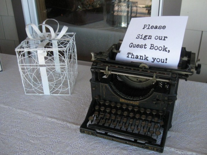 Guest Book Typewriter