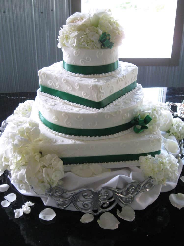 Green Ribbon Square/Round Alternate Knoxville, TN Wedding Cake