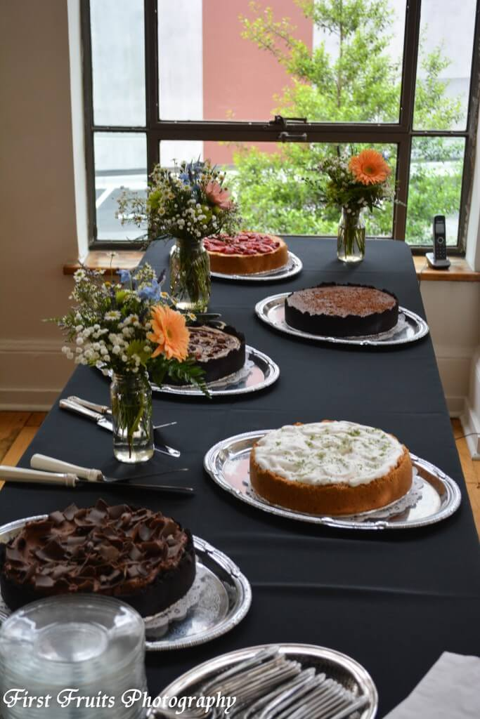 Gourmet Cheesecake Station: Turtle Pecan, Kahlua, Key Lime, NY with Strawberries, Triple Chocolate