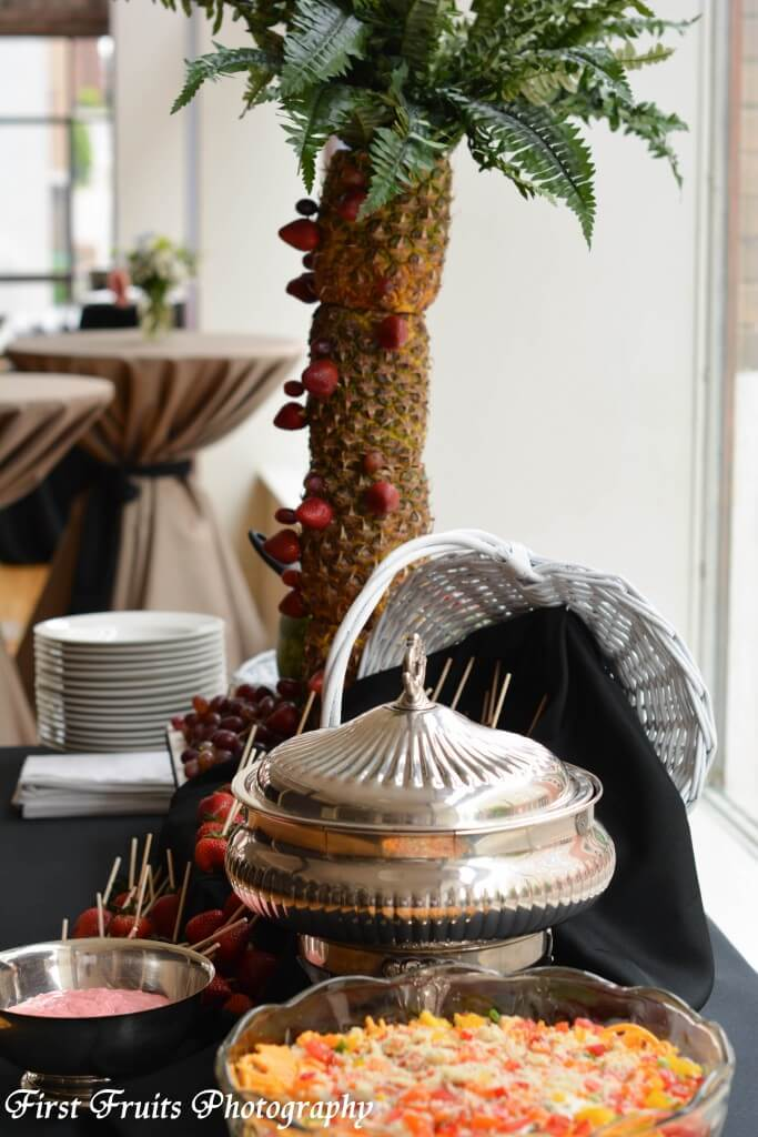 Fresh Fruit Fondue , Vegetarian Southern Cornbread Salad Food Station