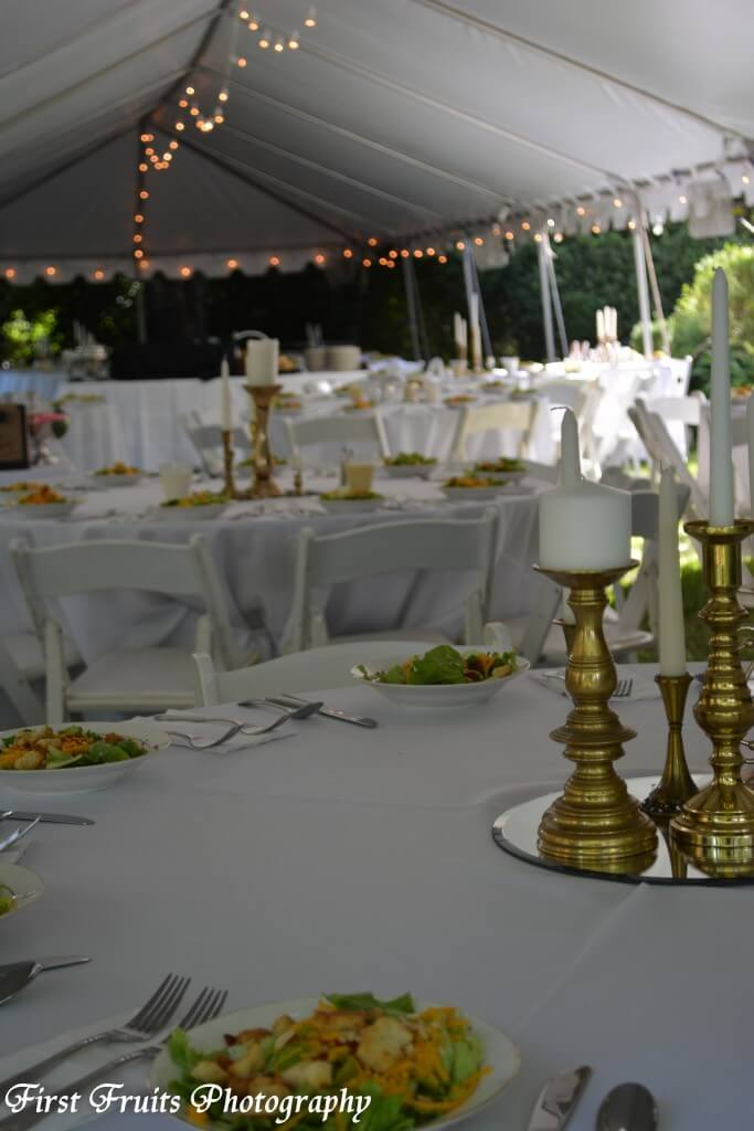 Campbell Tent and Party Rental, Tent Dining Room, The Bleak House, First Fruits Catering, Knoxville Catering