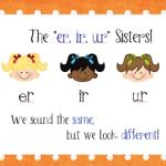 """The """"er, ir, ur"""" Sisters Poster Freebie!"""