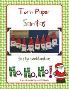 Torn Paper Santas