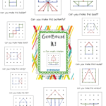 Ta-Dah!  GeoBoard It! Math Station Pack and a Freebie!!