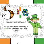 Happy St. Patrick's Day Sale!