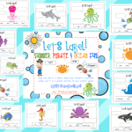 Label It! Summer, Ocean, & Pirate Fun! ~Freebie~