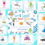 Label It! Summer, Ocean, & Pirate Fun! ~Freebie~
