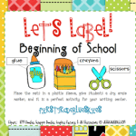 Label It! Beginning of School & Freebie