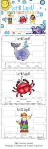 Summer, Pirate, and Ocean Labeling & Giveaway