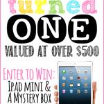 Happy Birthday Freebielicious!  Enter to win an iPad Mini!