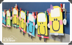 BUStin' into School! Back to School Craft and Bulletin Board {Giveaway}