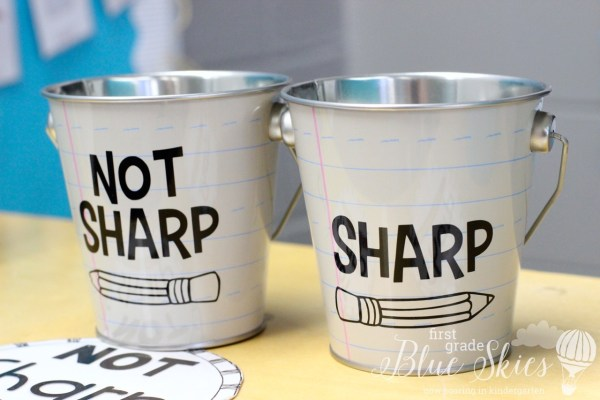 sharp and not sharp pencil cans