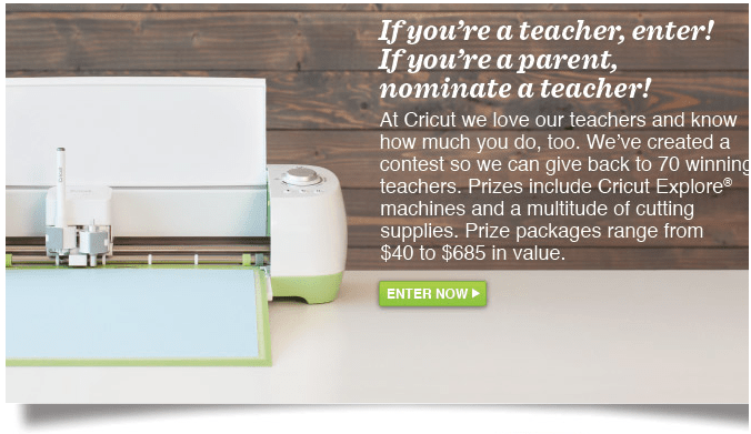 Cricut Giveaway for Teachers