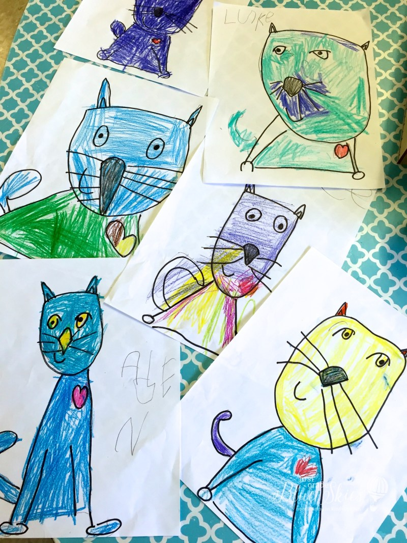 Pete the cat directed drawing