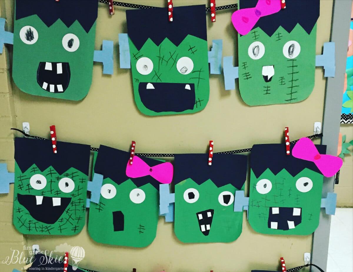 Frankenstein Halloween Craft Freebie