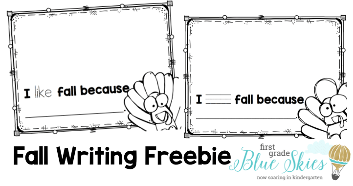 Fall writing freebie kindergarten