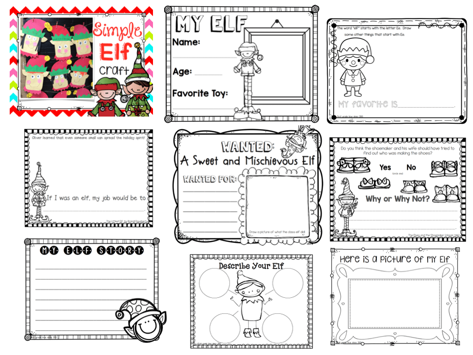 Elf Writing activities