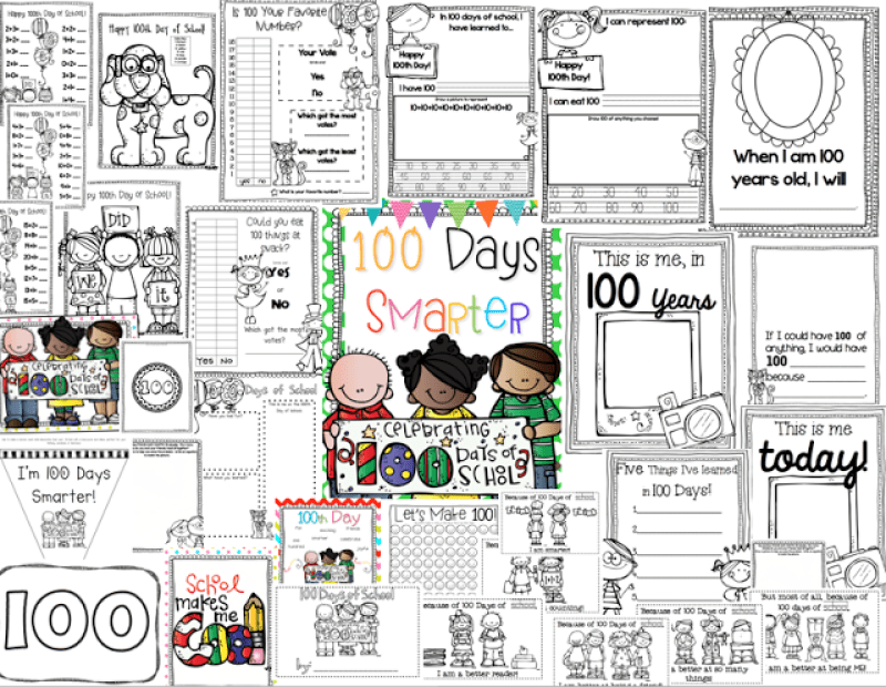 100-days-school-activity-pack