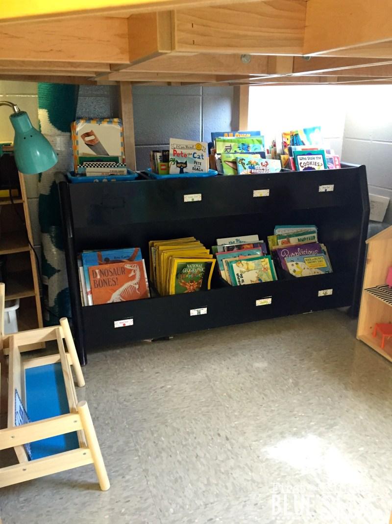 reading area under loft