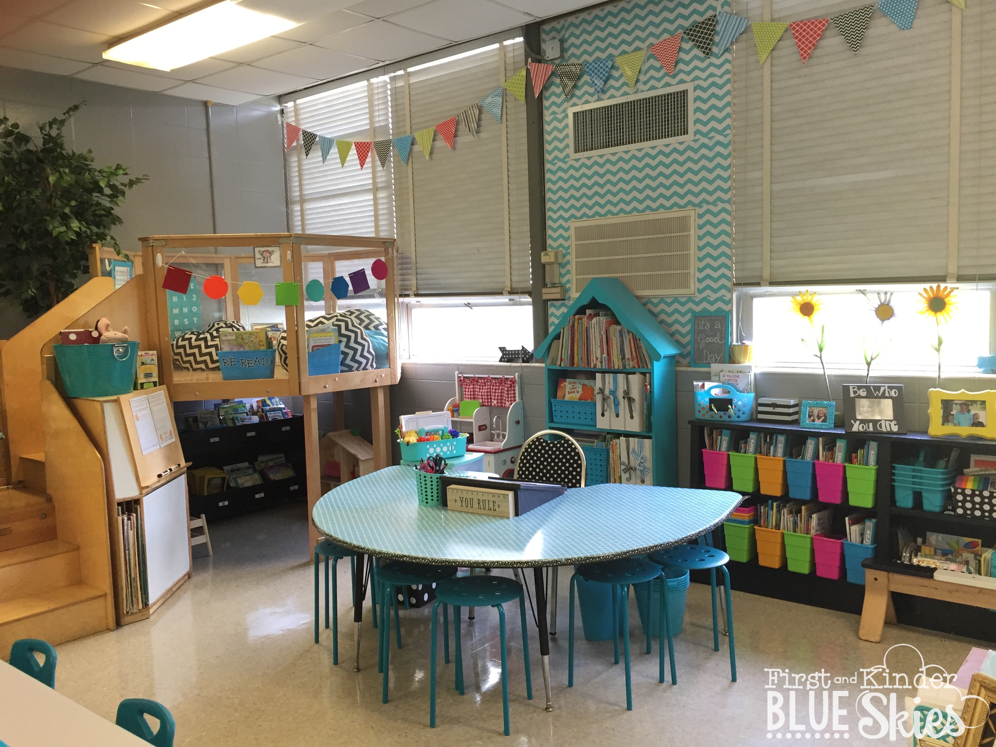 Kindergarten classroom table - And For Open House