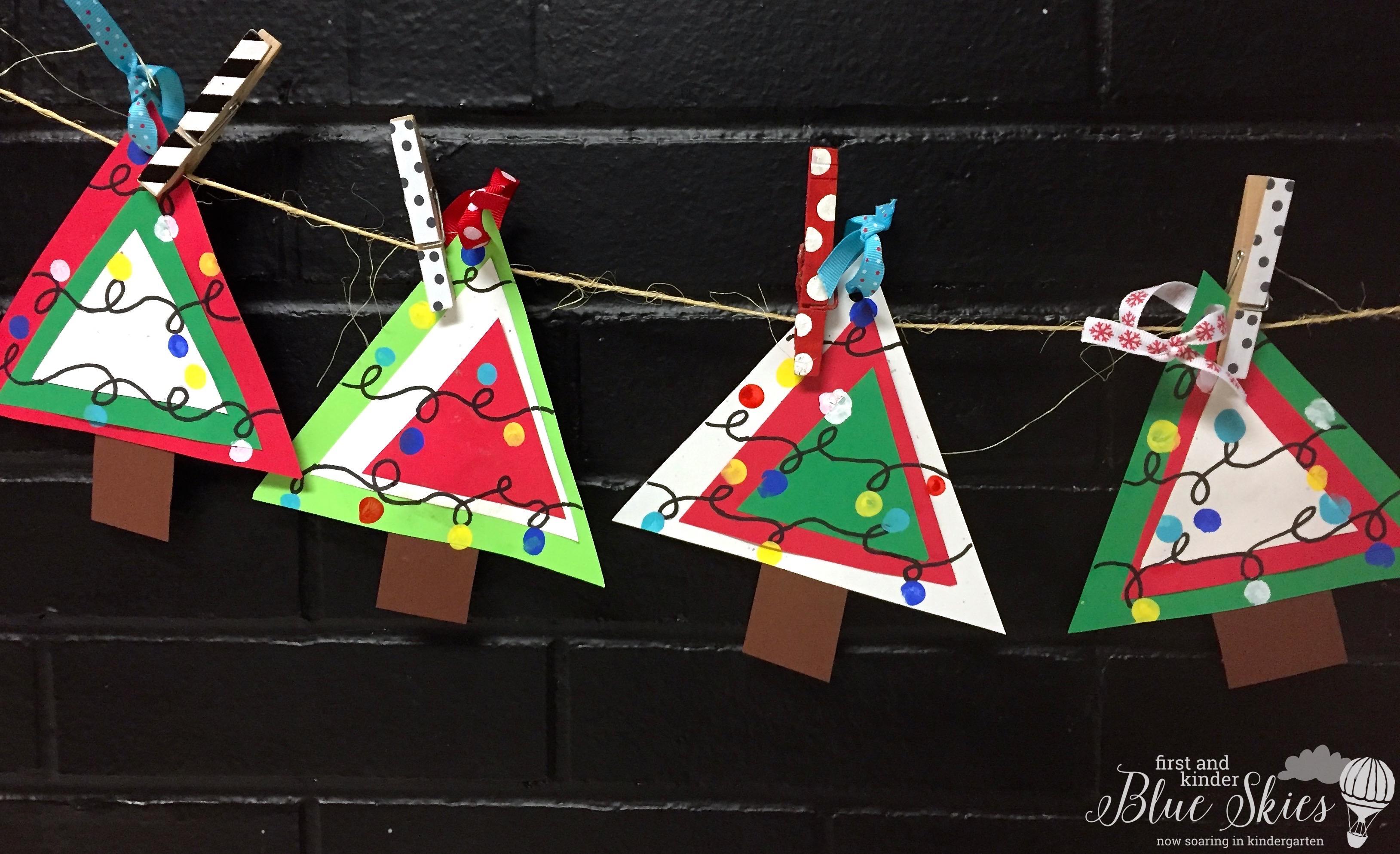 Christmas Ornament Craft First Grade Blue Skies