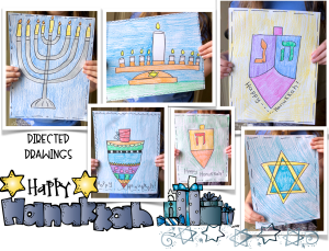 Directed Drawings for Hanukkah and the Nativity