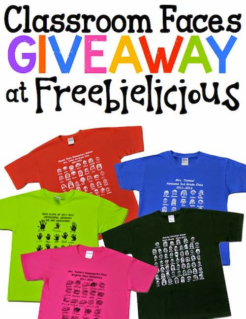 bb317e5b1 We will be giving away a class set* of custom t-shirts to THREE lucky  Freebielicious fans! Isn't that amazing?