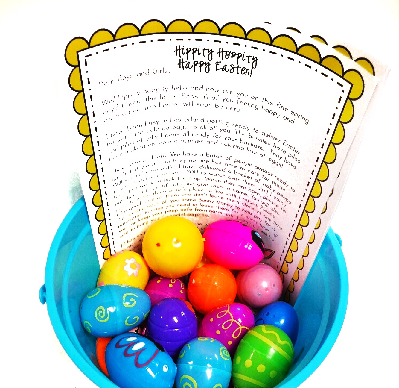 Easter Peep Writing Activity For Kids