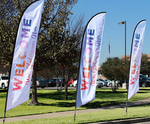 Feather Flag banners for churches