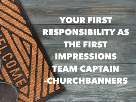 First Impressions Team Captain