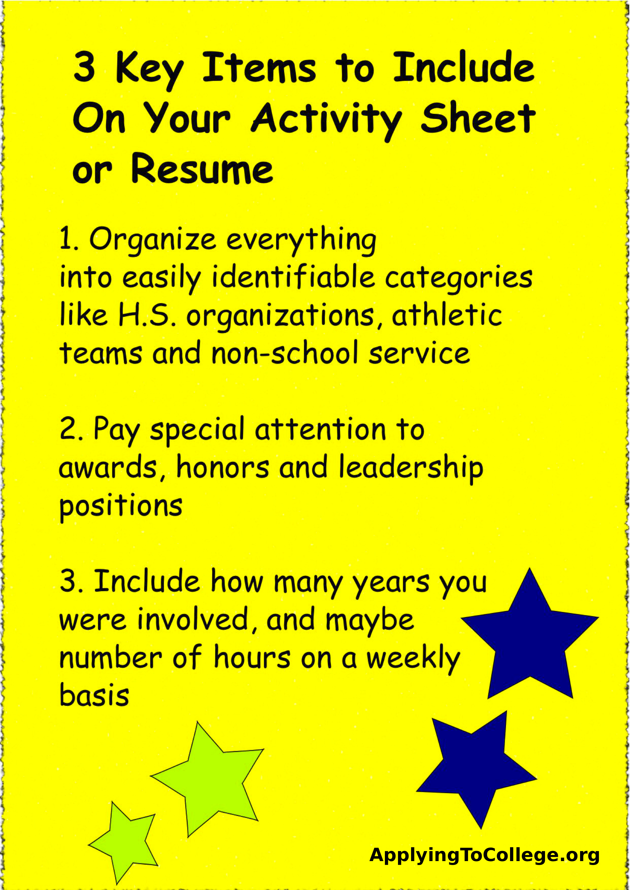 What Do I Need For A Resume Should You Include A Resume With Your College Application