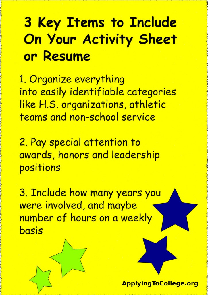 Should You Include a Resume with Your College Application