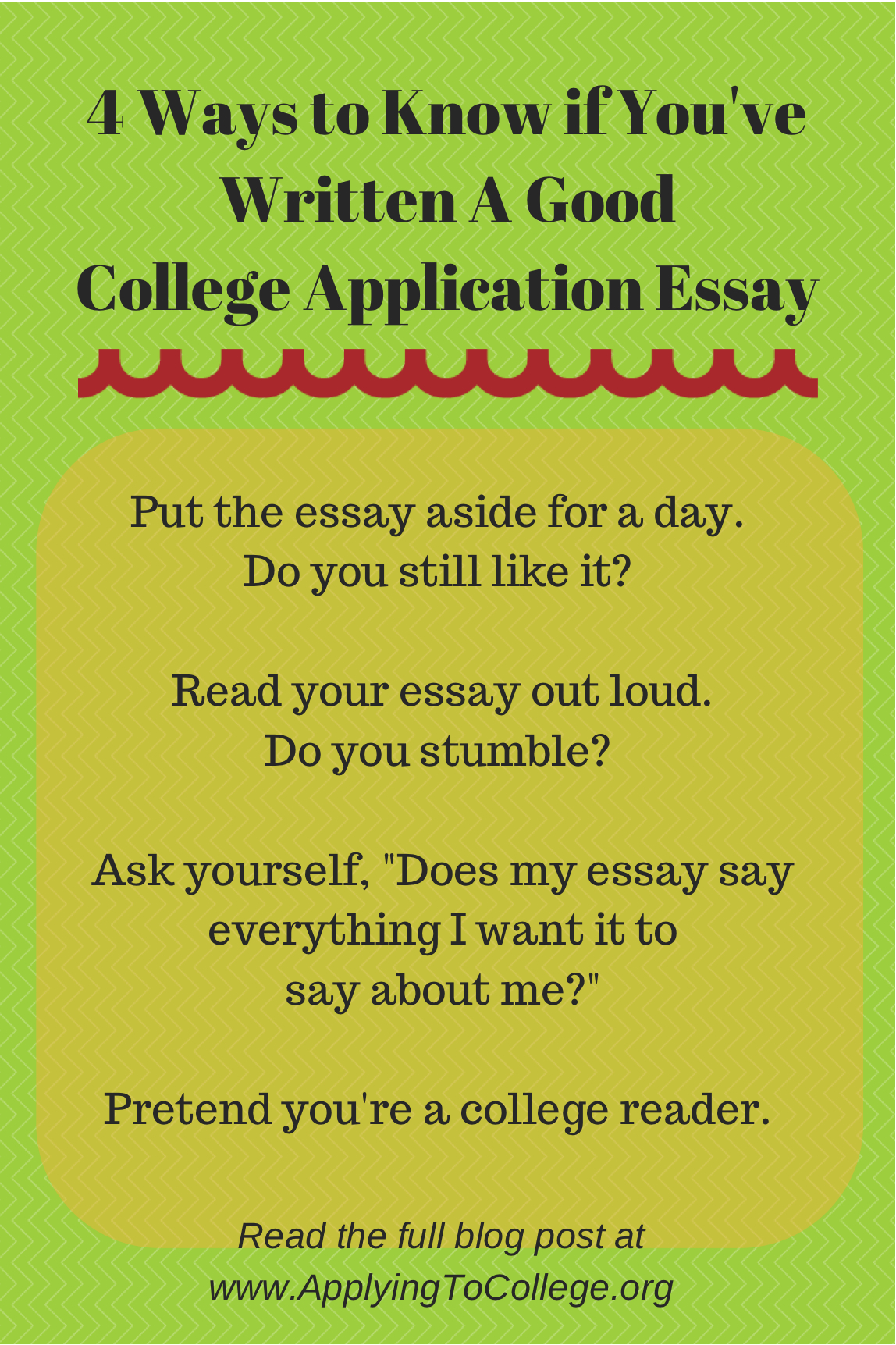 4 Ways to Know if Youve Written a Good College Essay  Applying To College