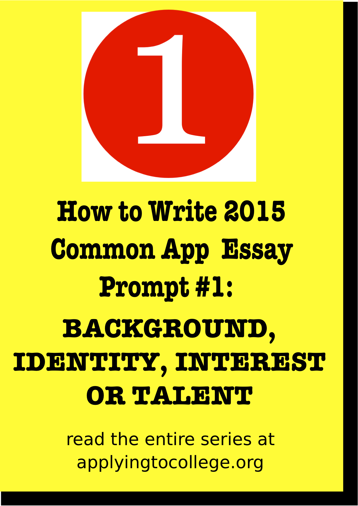 Examples Of College Essays For Common App How To Write 2015 Common App Essay 1 Background Identity