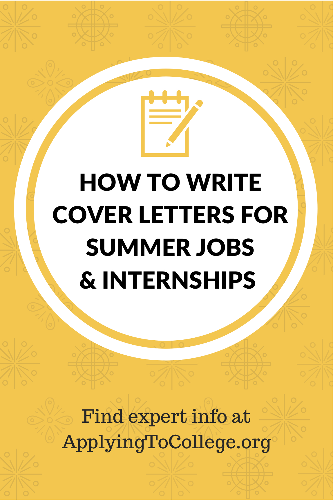 Cover Letters for Summer Jobs and Internship Applications