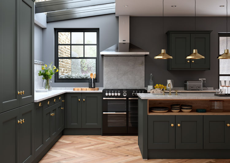 Allestree Bespoke Painted Kitchen First Impressions