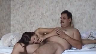 My dad gets into my bed