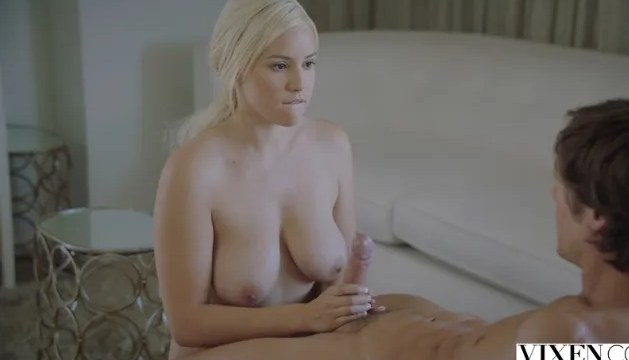 Delicious blonde seduces her brother