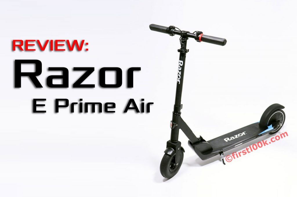 Razor E Prime Air Electric Scooter Has a Shock Absorbing