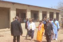 The Ambassador visits the BYAW Academy in Ferekoroba being built by Building Youth and Empower Mali