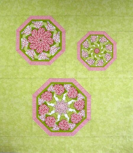 "Hydrangea Kaleidoscopes, 47"" x 54"""